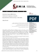 Osobowość (o)Pisana w Listach - Polisemia – Czasopismo Naukowe