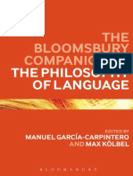 Manuel Garcia-Carpintero, Max Kolbel-The Bloomsbury Companion to the Philosophy of Language
