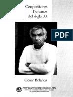 Ceidml - Compositores Peruanos Del Siglo Xx - 7. César Bolaños