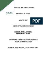 Las 4 funciones de la administración (IEU Maestría en ingeniería administrativa)