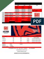 Horários e Planos Julho 2015