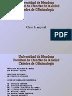 Clase Inaugural y Programa