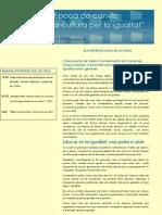 Programa Jornades EL CAMP DE L'ARPA PER LA IGUALTAT DE GENERES