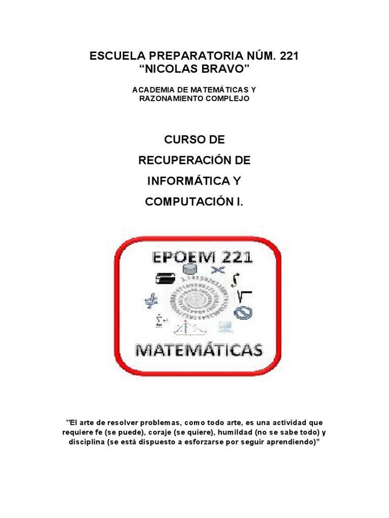 Cuadernillo De Recuperacion Info I