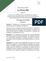 Ley 892 de 2004