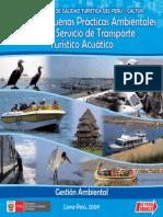 Manual de Buenas Prácticas Ambientales para Transporte Turistico Acuatico