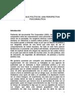 México y Sus Políticos Una Perspectiva Psicoanalítica