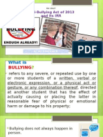 Ra 10627 Anti Bullying