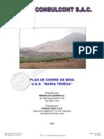 Plan de Cierre Minas 2008