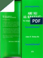 The Judgments of Nativities - Abu Ali Khayat