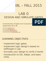 VHDL Introductory lab