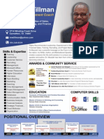 MWTillman Resume page 1