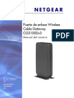 NETGEAR Cable Modem Gateway CG3000D-1CHXAS User Manual - CG3100Dv3_UM_SP_28Oct11.pdf