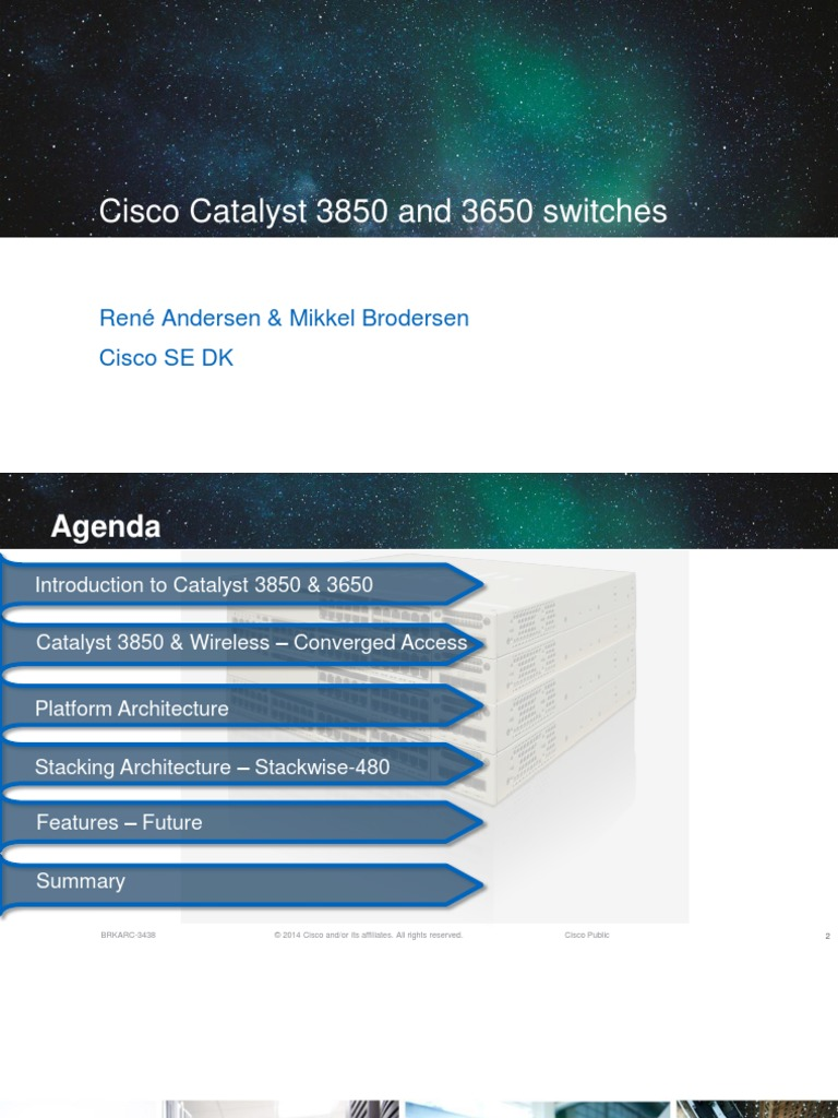 Cisco Virtual Update - Unified Access c3850 | Network Switch