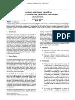Informe #1.Reacciones Selectivas y Específicas