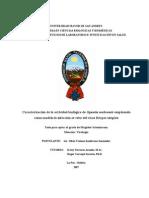 Caracterización de la actividad biologica de la Opuntia Soherensi