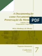 Monumenta DocumentacaoComoFerramenta m(2)