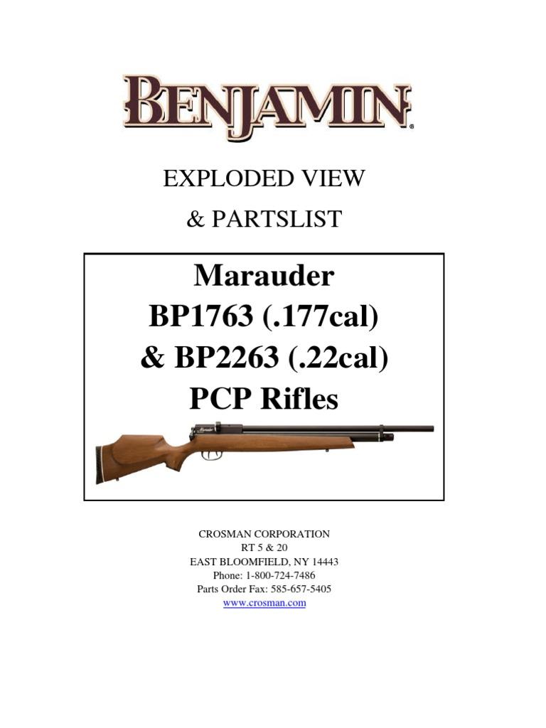 """.25 Benjamin Marauder Rifle Barrel 20/"""" Length 2563-001"""