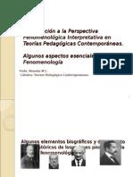 Introducción a La FENOMENOLOGÌA
