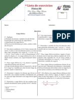 1ª Lista de Física III