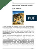 Diferentes Modelos en El Analisis Institucional Revision y Evaluacion Critica