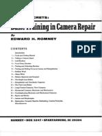 Edward Ed Romney - Revised Trade Secrets, Basic Training in Camera Repair