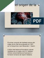 Teoría Del Origen de La Vida,Celular y Evolucion Celular.