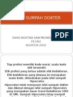 K - 2 Lafal Sumpah Dokter.ppt