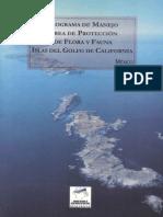 Programa de Manejo Islas del Golfo de California
