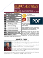 Week One Game Notes