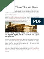 Dịch Tiếng Ý Sang Tiếng Việt Chuẩn