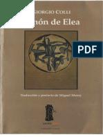 Colli, Georgio - Zenón de Elea