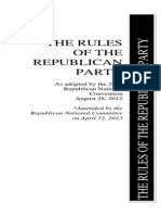 2014 Amended Rules of the Republican Party for 2016 Election