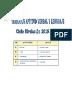 Aptitud Verbal y Lenguaje 2015-III