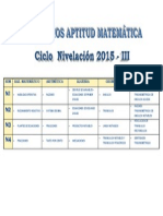 Aptitud Matemática Nivelacion 2015-III