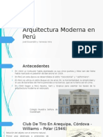 Arquitectura Moderna en Perú