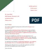 Contoh Surat Lamaran Bahasa Inggris