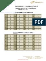 GABARITO 2 Consulplan Gabarito Preliminar