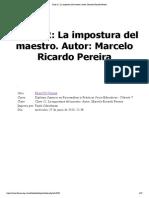 Clase 12_ La Impostura Del Maestro