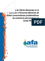 Demanda Tratamiento Menores Consumidores Sustancias Psicoactivas CR 2012