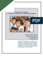PROPUESTA DE TRANSICIÓN DE LA EDUCACIÓN PRIMARIA A LA EDUCACIÓN SECUNDARIA