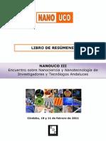 Libro de Resmenes Nanouco III Isbn V