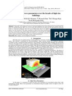 Study on blast wave parameters over the facade of high rise buildings