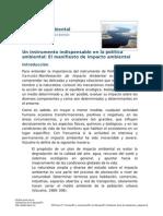 Un Instrumento Indispensable en La Política Ambiental- El Manifiesto de Impacto Ambiental