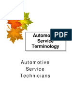 Automotiveservice Terminology