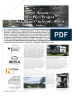 Integrated Water Resources Management Pilot Project Middle Olifants in South Africa