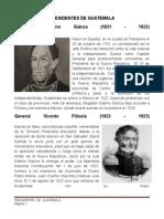 Presidentes de Guatemala Usac