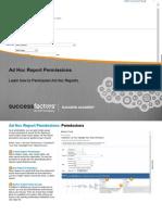 Adhoc Report Permission in Success Factors