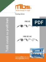 Tabla Cutata Cu Profil Inalt MBS 85_tabel Incarcari
