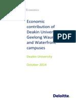 Deakin Universitys Economic Contribution Geelong Deloitte Access Economics Final Report 10 Oct 2014